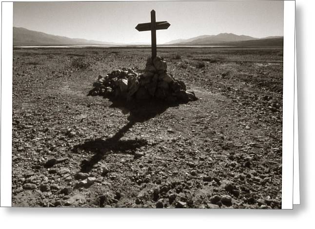 Wooden Train Print Greeting Cards - Death Valley Grave Greeting Card by Jeff Leland