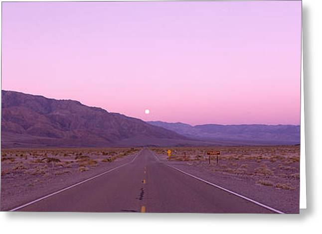 Moonrise Greeting Cards - Death Valley National Park, California Greeting Card by Panoramic Images