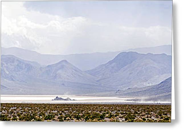 Dry Lake Greeting Cards - Death Valley Racetrack, Death Valley Greeting Card by Panoramic Images