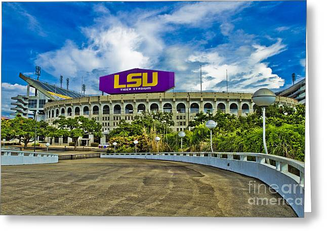 College Football Greeting Cards - Death Valley Greeting Card by Scott Pellegrin
