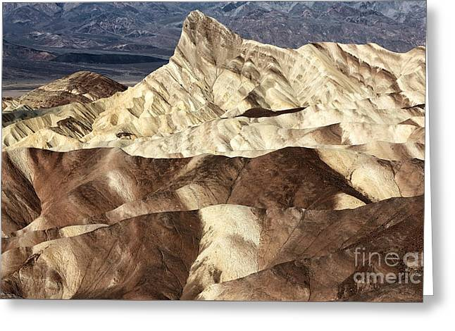 Death Valley Slices Greeting Card by John Rizzuto