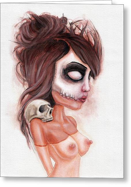 Deathlike Skull Impression Greeting Card by Rouble Rust
