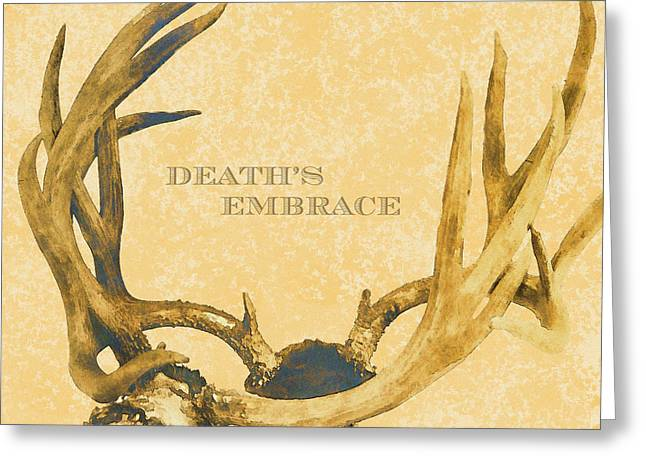 Hunting Cabin Digital Art Greeting Cards - Deaths Embrace Greeting Card by Paul Ashby Antique Image