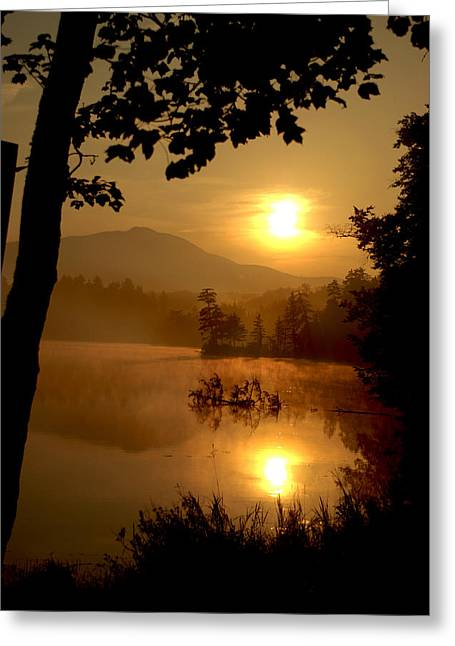 Debarred Greeting Cards - Debar Mt. - Clear Pond Sunrise Greeting Card by Steve Auger