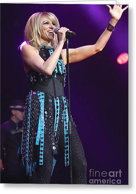 Debbie Gibson Photographs Greeting Cards - Singer Debbie Gibson Greeting Card by Front Row  Photographs