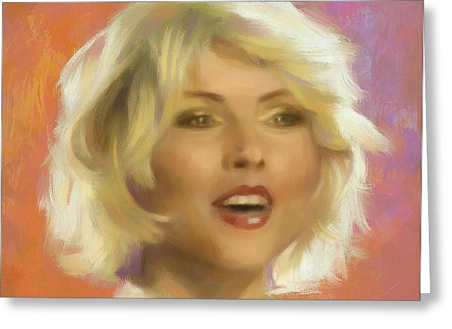 80s Pop Music Digital Greeting Cards - Debbie Harry Greeting Card by Ixie
