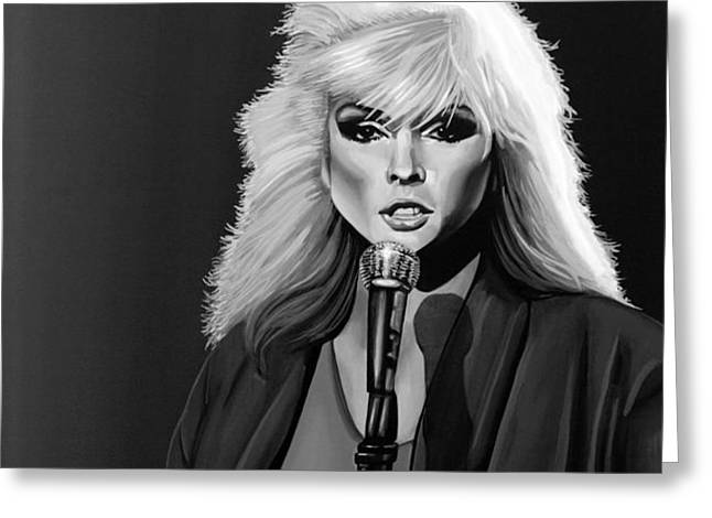 Stein Mixed Media Greeting Cards - Debbie Harry Greeting Card by Meijering Manupix