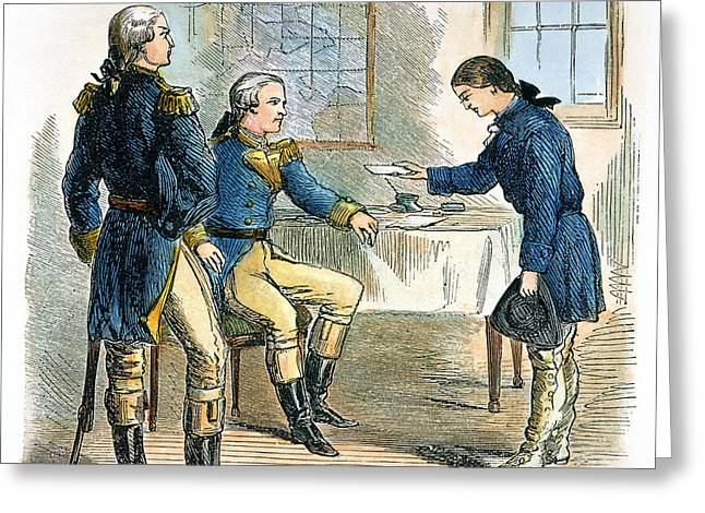 Spats Greeting Cards - Deborah Sampson (1760-1827) Greeting Card by Granger