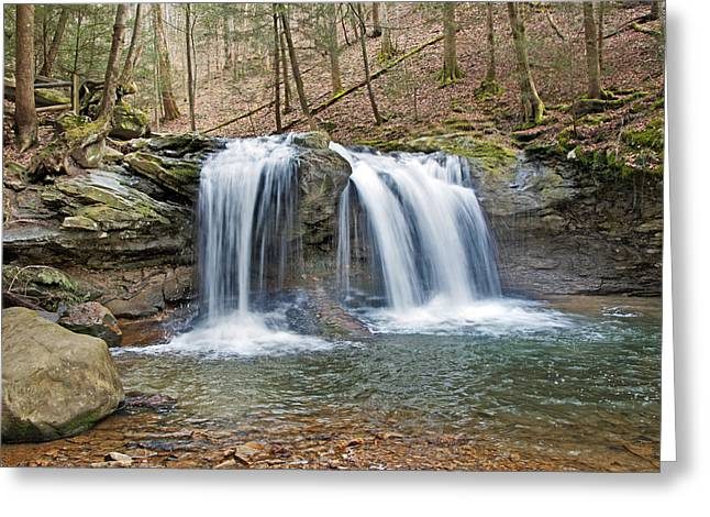 Buy Photos Online Greeting Cards - Debord Falls Greeting Card by Steven  Michael