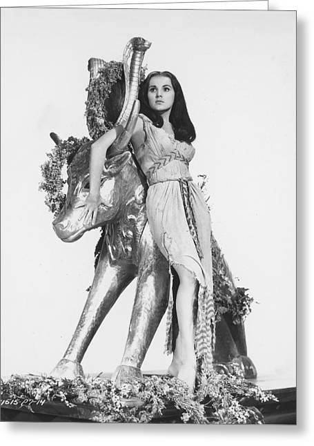 Commandment Greeting Cards - Debra Paget in The Ten Commandments Greeting Card by Silver Screen