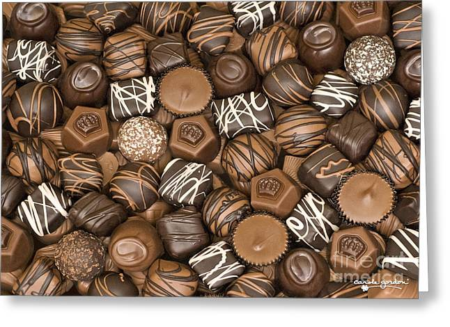 Chocolates Greeting Cards - Decadence Greeting Card by Carole Gordon