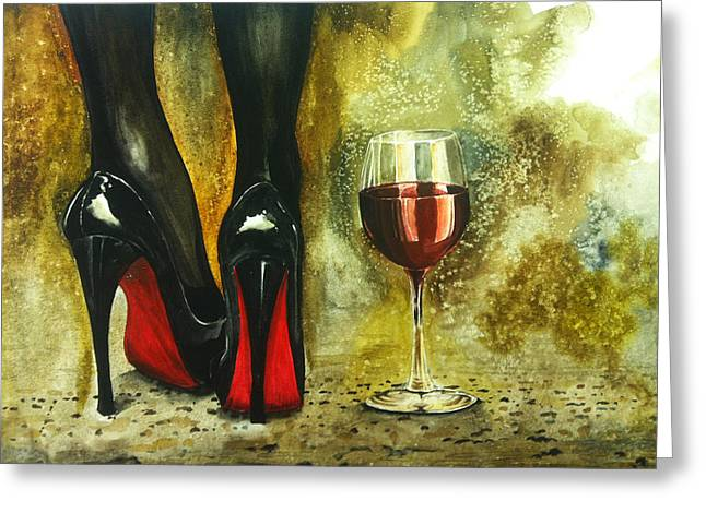 Wine Legs Greeting Cards - Decadence Greeting Card by Scott Hannaman