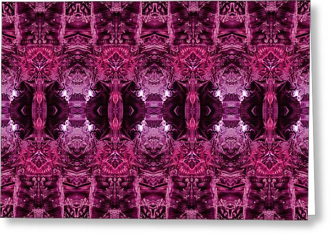 Decalcomaniac Wallpaper Greeting Card by Otto Rapp