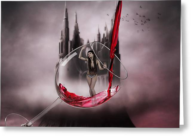 Pouring Wine Digital Art Greeting Cards - Decant Greeting Card by Walking Tall