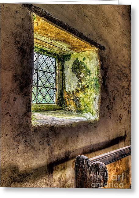 Window Panes Greeting Cards - Decay Greeting Card by Adrian Evans