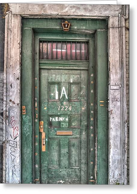 French Quarter Doors Greeting Cards - Decaying Beauty Greeting Card by Brenda Bryant