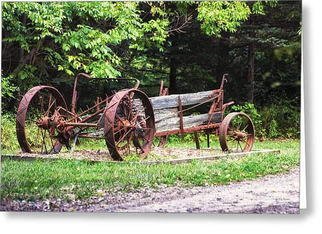 Calcined Greeting Cards - Decaying Wagon Greeting Card by Thomas Woolworth