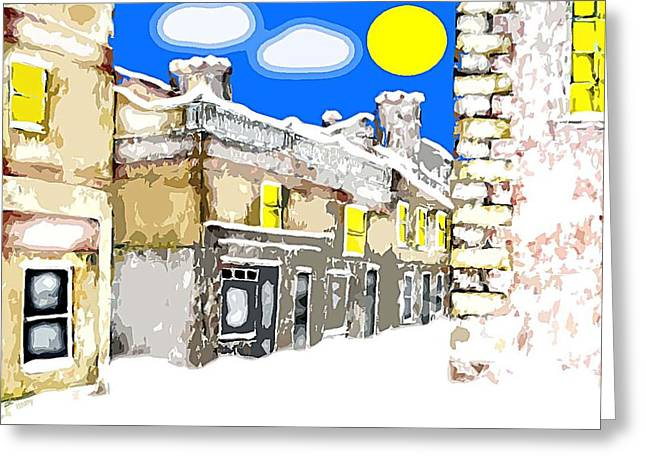 Landscape Posters Mixed Media Greeting Cards - December 25th Greeting Card by Patrick J Murphy