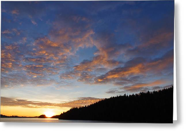 Angel Blues Greeting Cards - December 7th Sunset-3 Greeting Card by Evan Spellman