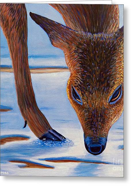 Spiritual Animal Greeting Cards - December Greeting Card by Brian  Commerford