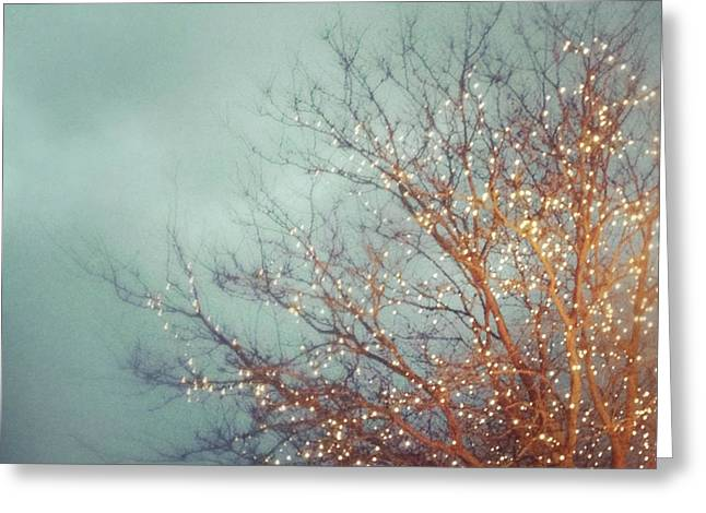Gloaming Greeting Cards - December Dream Greeting Card by Elle Moss