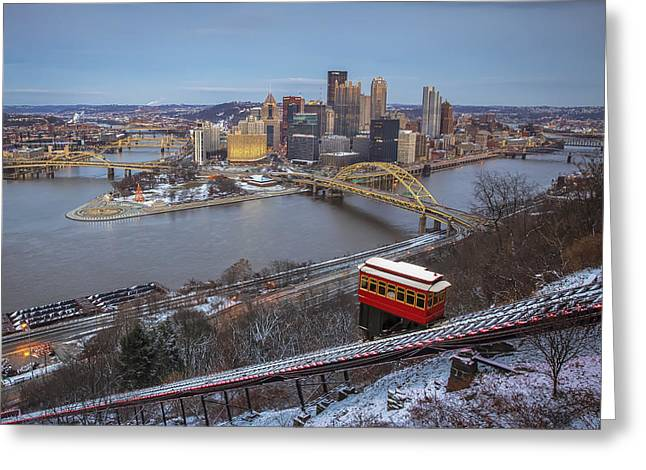 Allegheny Greeting Cards - December Evening Greeting Card by Jennifer Grover