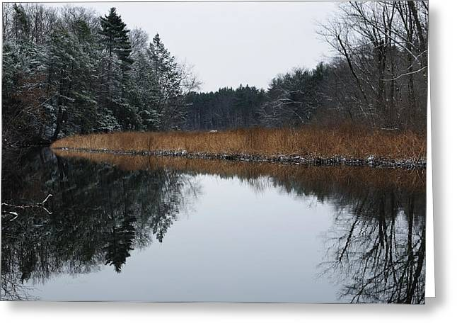 Grafton Ma Greeting Cards - December Landscape Greeting Card by Luke Moore