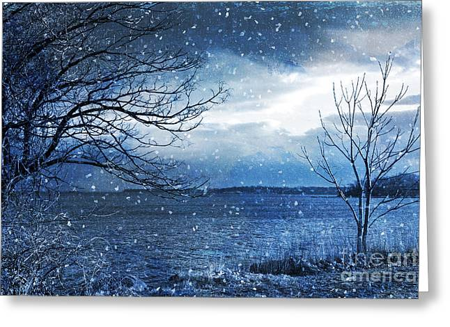 A New Focus Photography Greeting Cards - December Night Greeting Card by A New Focus Photography