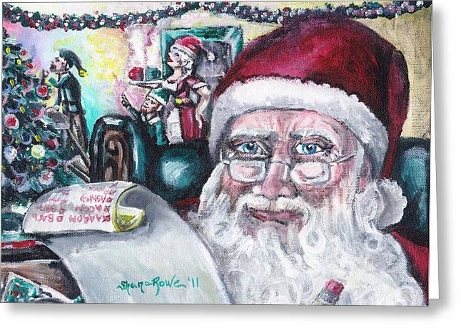 Chris Cringle Greeting Cards - December Greeting Card by Shana Rowe