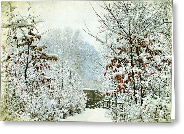 December's Path Greeting Card by Jessica Jenney
