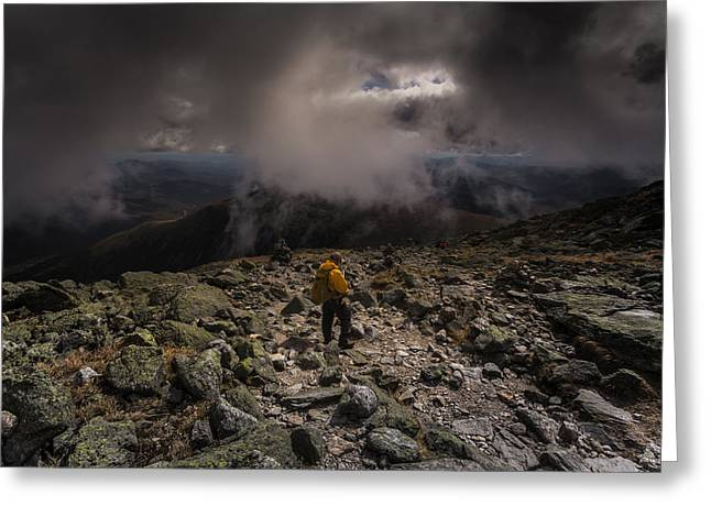 Hiker Greeting Cards - Decend Greeting Card by Chris Fletcher