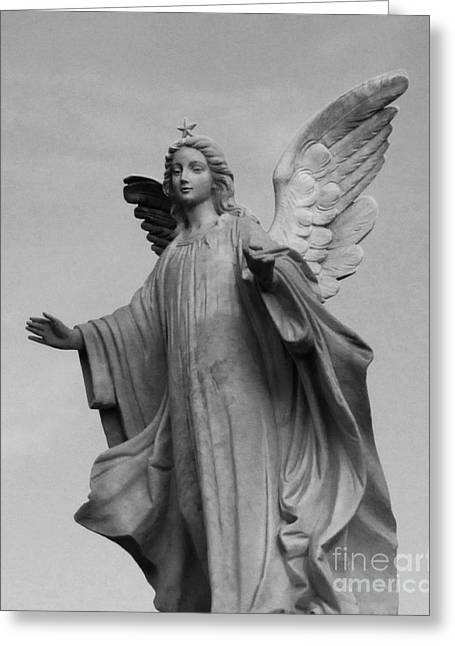 America Sculptures Greeting Cards - Descending Angel Greeting Card by Nathan Little