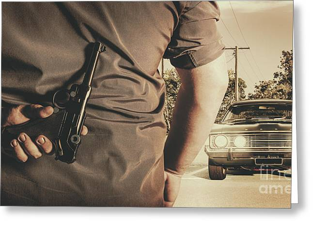 Deception In The Bay Parking Greeting Card by Jorgo Photography - Wall Art Gallery