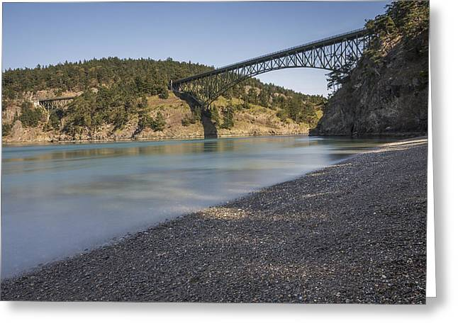 Deception Beach Greeting Cards - Deception Pass State Park Greeting Card by Calazones Flics