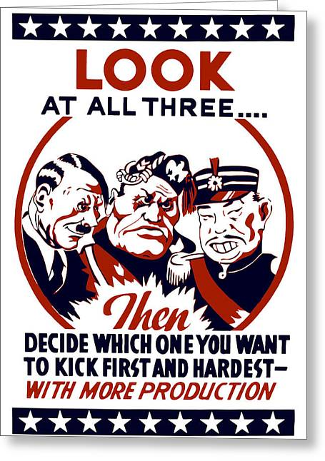 Adolf Greeting Cards - Decide Which One You Want To Kick First And Hardest Greeting Card by War Is Hell Store