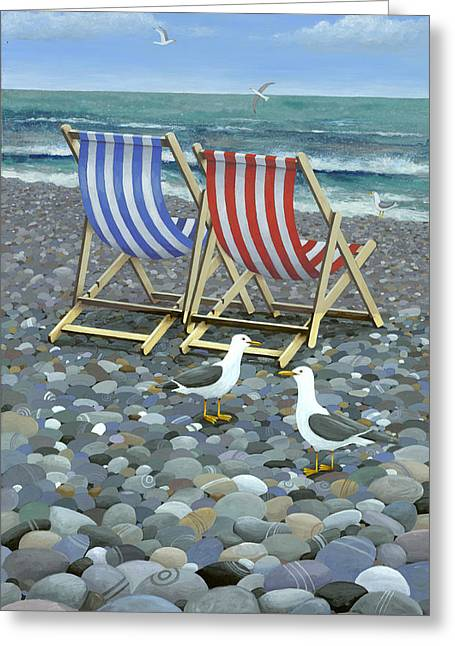 Deck Chairs Greeting Cards - Deck Chairs Greeting Card by Peter Adderley