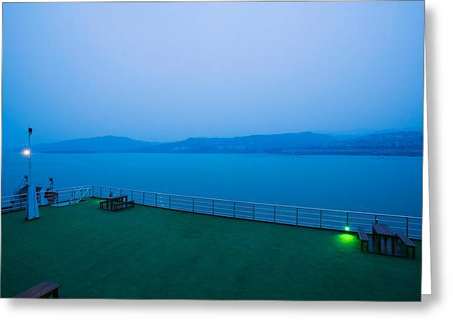 Deck Of The Yangtze River Cruise Ship Greeting Card by Panoramic Images