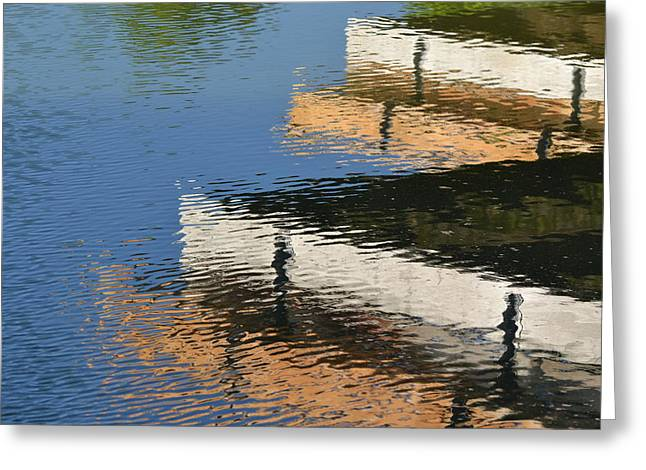 Bill Mock Greeting Cards - Deck Reflections Greeting Card by Bill Mock