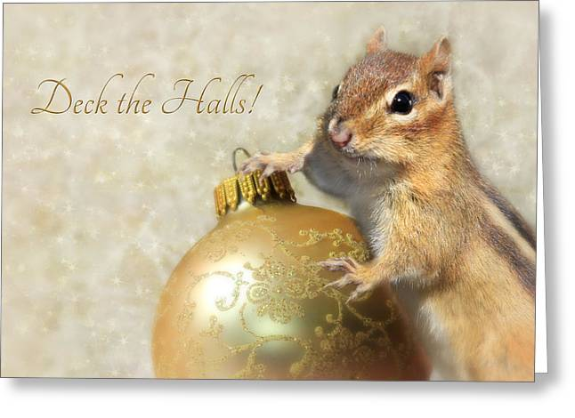 Christmas Greeting Greeting Cards - Deck the Halls Greeting Card by Lori Deiter