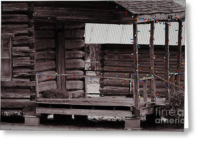 Old Home Place Greeting Cards - Deck The Logs Greeting Card by Cindy Veroline