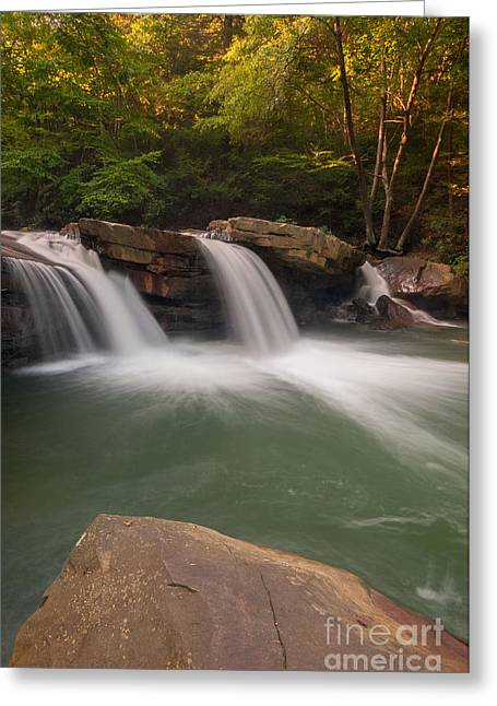Stream Greeting Cards - Deckers Creek D30019147 Greeting Card by Kevin Funk