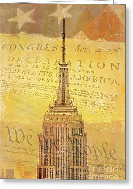 July Fourth Greeting Cards - Liberation Nation Greeting Card by Az Jackson