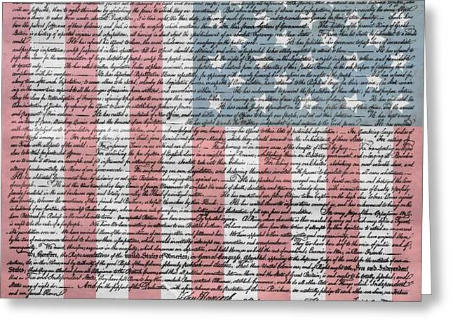 Declaration Of Independence Greeting Card by Dan Sproul