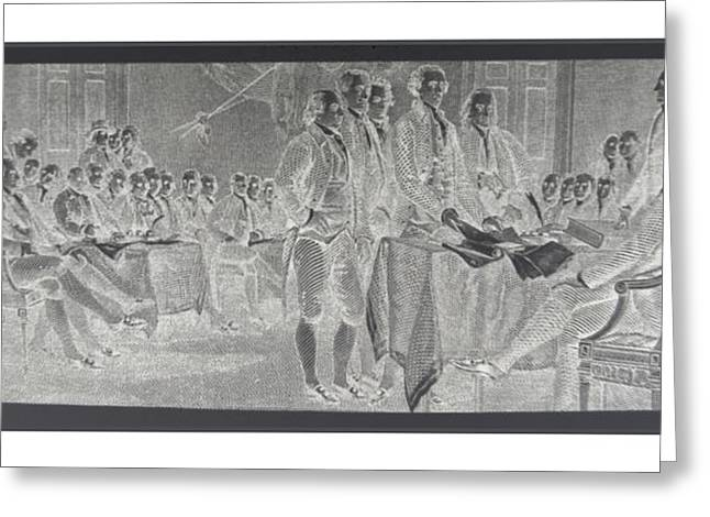 Recently Sold -  - 4th July Digital Art Greeting Cards - DECLARATION OF INDEPENDENCE in NEGATIVE Greeting Card by Rob Hans