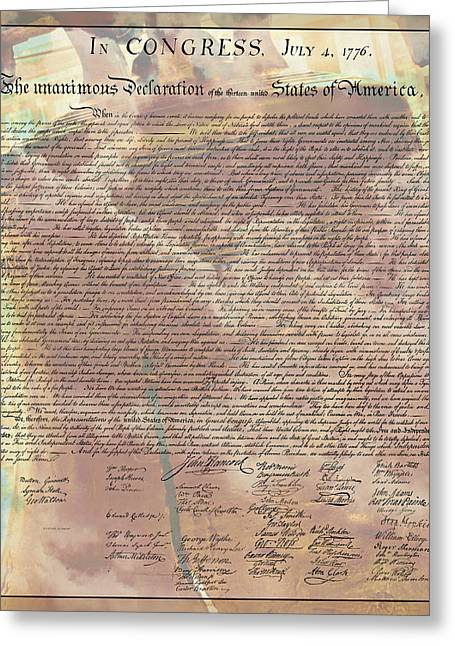 4th July Greeting Cards - Declaration of Independence Greeting Card by Stephen Stookey