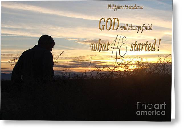 Sunset Posters Greeting Cards - Declare Gods Word Greeting Card by Beverly Guilliams