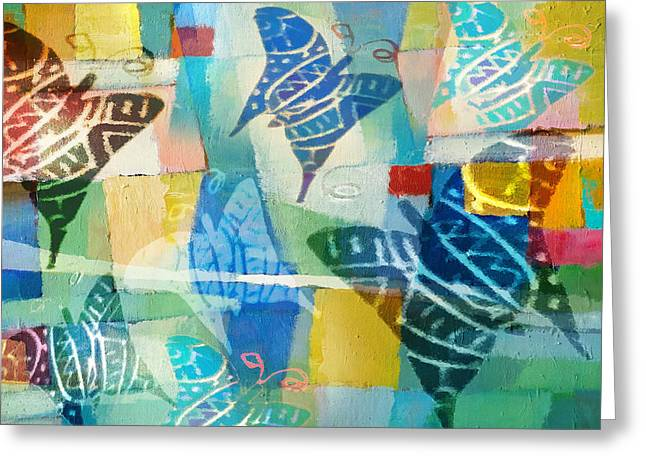 Lightscapes Greeting Cards - Deco Butterflies Greeting Card by Lutz Baar