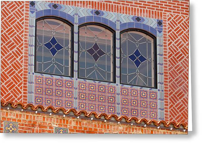 Ventura California Greeting Cards - Deco Facade Greeting Card by Art Block Collections