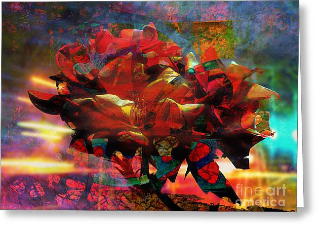 Abstract Digital Photographs Greeting Cards - Decomposing Beauty Greeting Card by Robert Ball