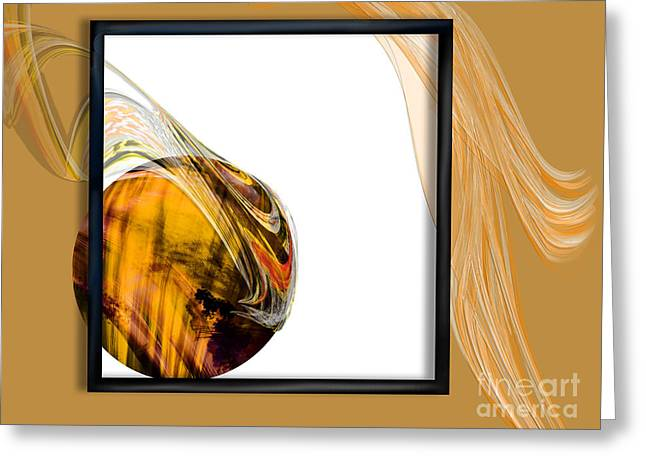 Deconstructed Greeting Cards - Deconstructed Abstract Tigereye Greeting Card by Kathryn L Novak